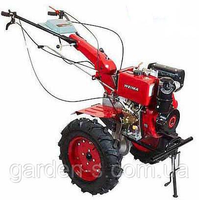 Мотоблок WEIMA WM1100D KM DeLuxe (бензин 9л.с., новые ручки, колеса 4.50-10) Бесплатная доставка