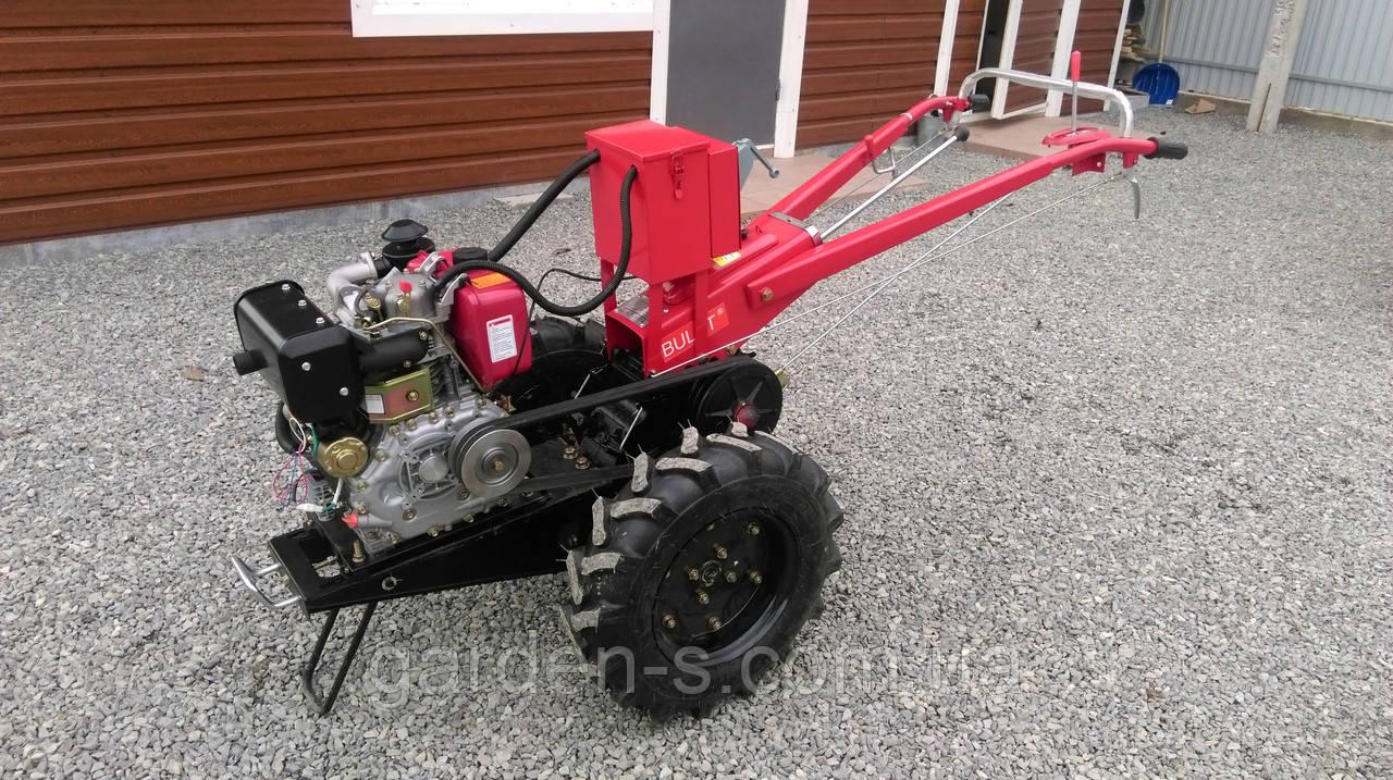 Мотоблок тяжелый Булат WM 9Е (дизельный двигатель воздушного охлаждения 9 л.с., электростартер)