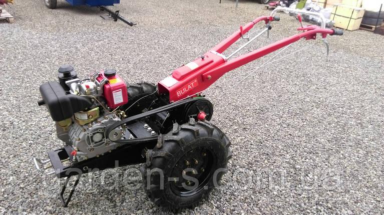 Мотоблок тяжелый Булат WM 9 (дизельный двигатель воздушного охлаждения 9 л.с., ручной стартер), фото 2