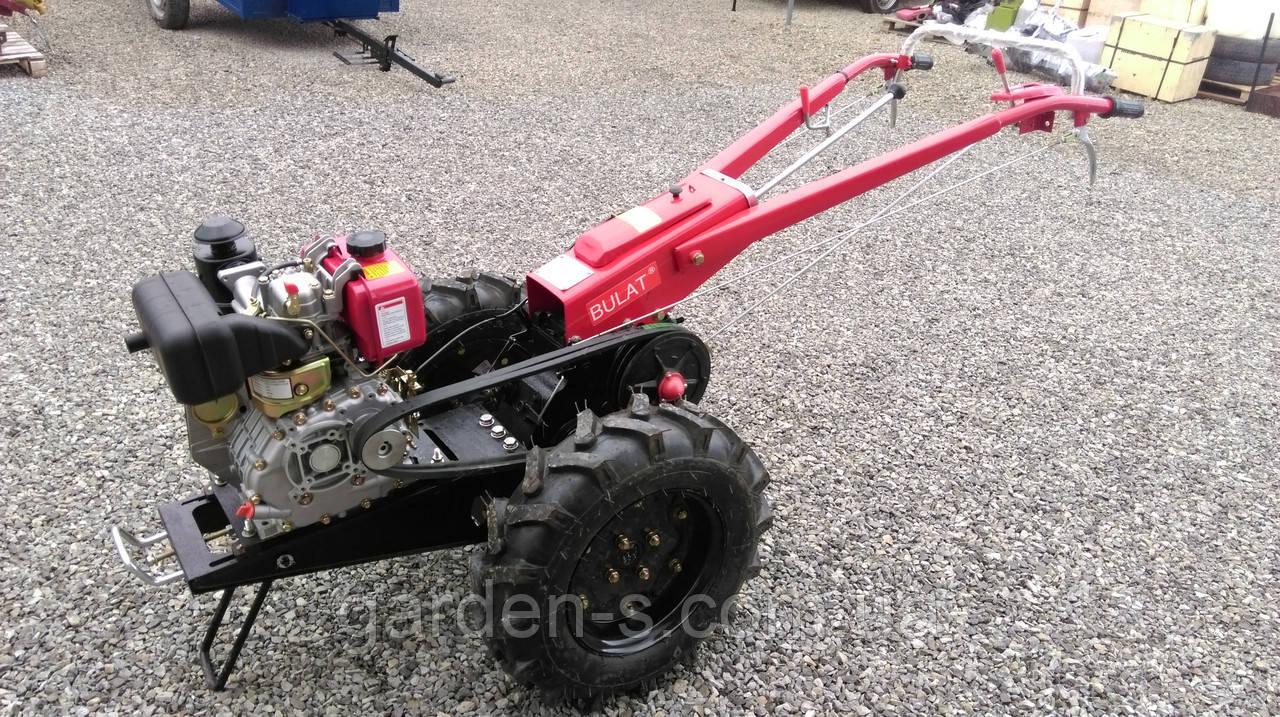 Мотоблок тяжелый Булат WM 6 (дизельный двигатель воздушного охлаждения 6 л.с., ручной стартер)