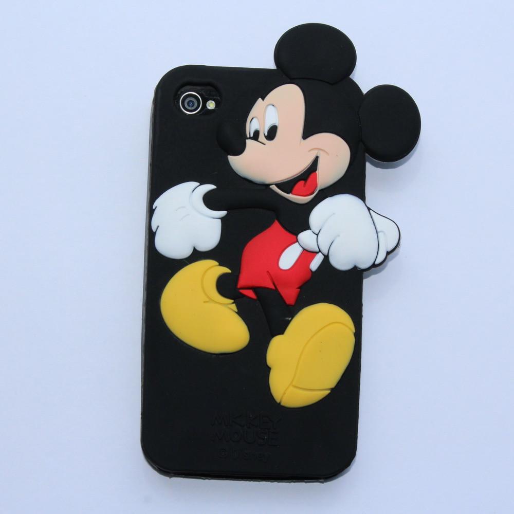 Чехол для iPhone 4 4S Mickey Mouse силиконовый