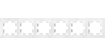 Рамка шестиместная (6) белая Уют, Белоруссия