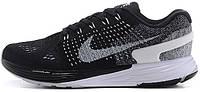 Женские кроссовки Nike Flyknit Lunarglide 7 Black Summit White, найк флайкнайт