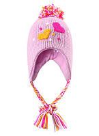 Зимняя вязаная шапка для девочки  Reima 518245-4140. Размер 46.
