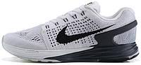 Женские кроссовки Nike Flyknit Lunarglide 7 White Anthracite Cool Gray, флайкнайт, найк