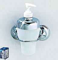 Дозатор для жидкого мыла на вакуумных присосках EverLoc