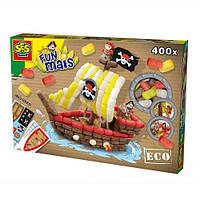 Набор для творчества Забавная Кукуруза Пиратский корабль (цветные элементы, аксессуары) SES