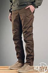 Мужские штаны коричневого цвета летние легкие кежуал