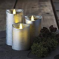 Электронные свечи с имитацией пламени Tenna Silver набор