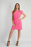 Платье Карман розовое