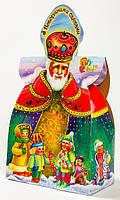Упаковка для новогодних подарков из картона Святой Николай 500г., фото 1