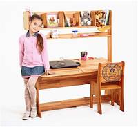 Комплект парта з пеналами, надбудова і стілець