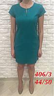 Платье зеленое льняное