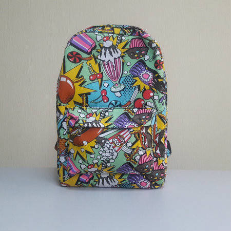 Городской рюкзак фаст фуд