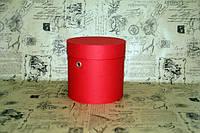 Красная шляпная коробка (15*15) с люверсами