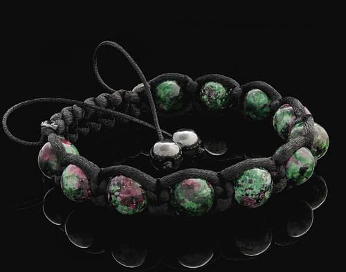 Мужской браслет шабмала из Цоизита