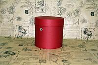 Темно-красная шляпная коробка (15*15) с люверсами