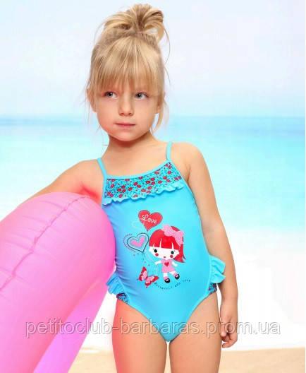 Цельный купальник для девочки