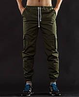Темно-зеленые карго брюки таны спортивные
