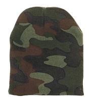 Шапка зимняя вудланд без заварота  DELUXE WOODLAND CAMO SKULL CAP