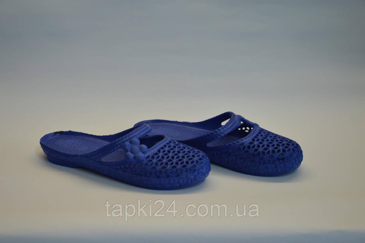 Шлепанцы женские оптом закрытые ПЖ - 08 синие, фото 1