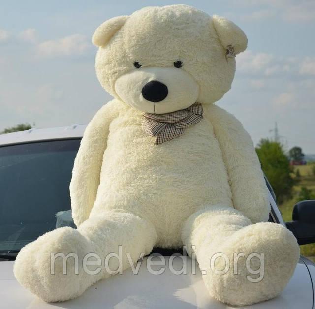 Белый плюшевый медведь 160 см