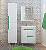 Комплект мебели для ванной комнаты Альфа ТЕХНО зеленый