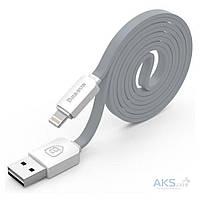 USB кабель Baseus Lightning String flat White/Silver