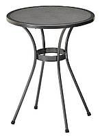 Садовый круглый стол из алюминия и стали