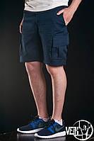 Темно-синие спортивные Шорты мужские