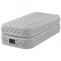 Надувная односпальная кровать Intex Supreme Air-Flow Bed With Built-In 99-191-51см.