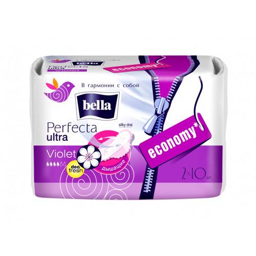 BELLA Perfecta violet silky drai прокладки гигиеничкеские20 штук