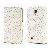 "Чехол книжка ""Glittery Powder"" на  Samsung Galaxy S IV S4 mini I9190, белая"
