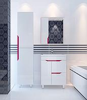 Комплект мебели для ванной комнаты Альфа ТЕХНО розовый