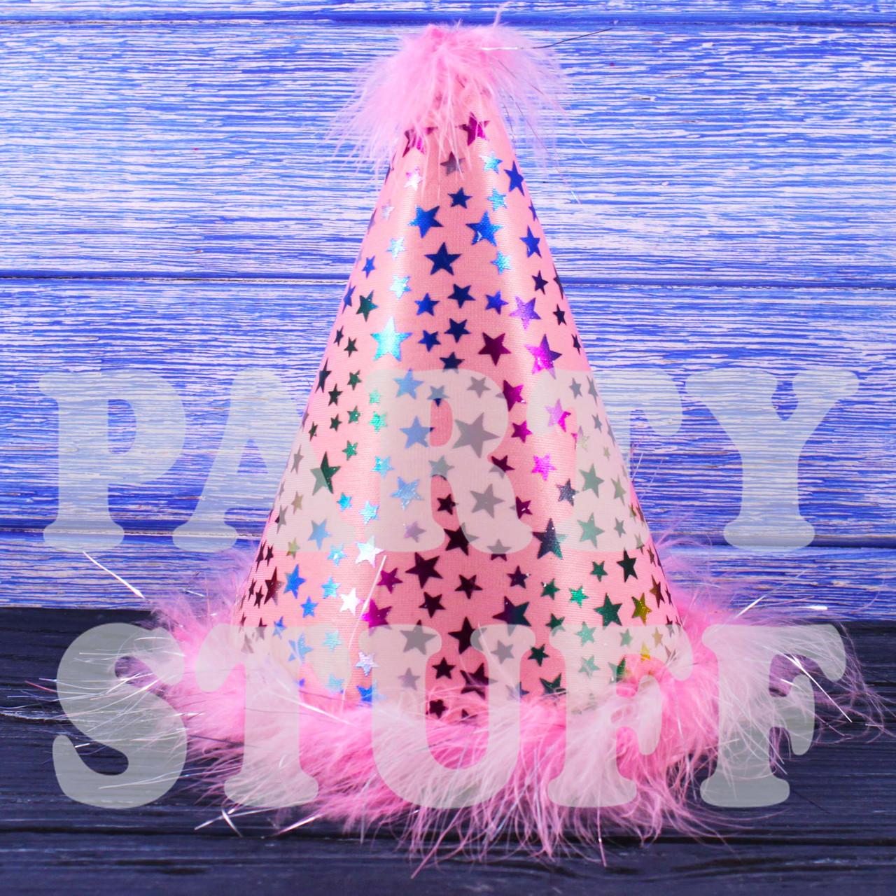 Колпачки феи с пухом Светло-розовые, 20 см