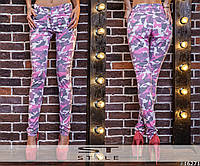 Штаны джинсовые женские камуфляжного принта