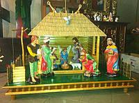 Різдвяний вертеп, шопка (висота фігур 50 см)