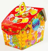 """Новогодняя упаковка из картона НОВИНКА 2019 """"Теремок 600г."""" размер 9*13*h10(см.), фото 1"""