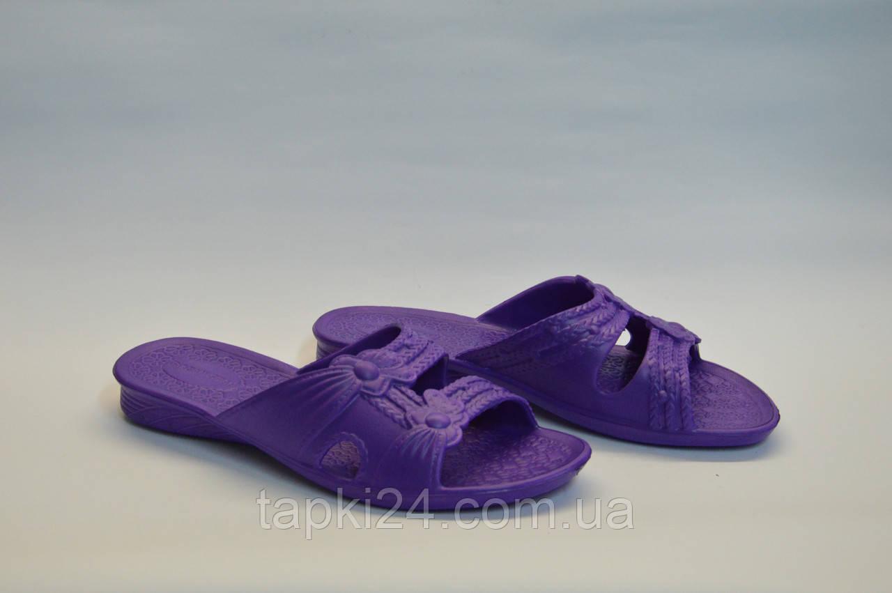 Шлепанцы женские оптом фиолетовые ПЖ - 12 пена, фото 1