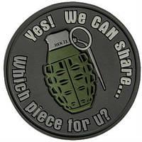 Шеврон Helikon We Can Share - Gray