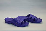 Сланцы женские шлепанцы оптом банные ПЖ - 03 синие, фото 1
