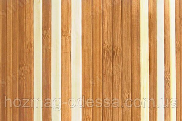 Бамбуковые обои темно-светлые 8/6 мм, ширина 90 см.
