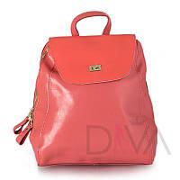 Рюкзак женский из натуральной кожи 65185watermelon_red