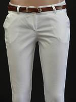 Котоновые женские брюки с поясом