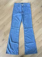 Джинсы женские классические клеш от колена завышенная талия Lexus jeans