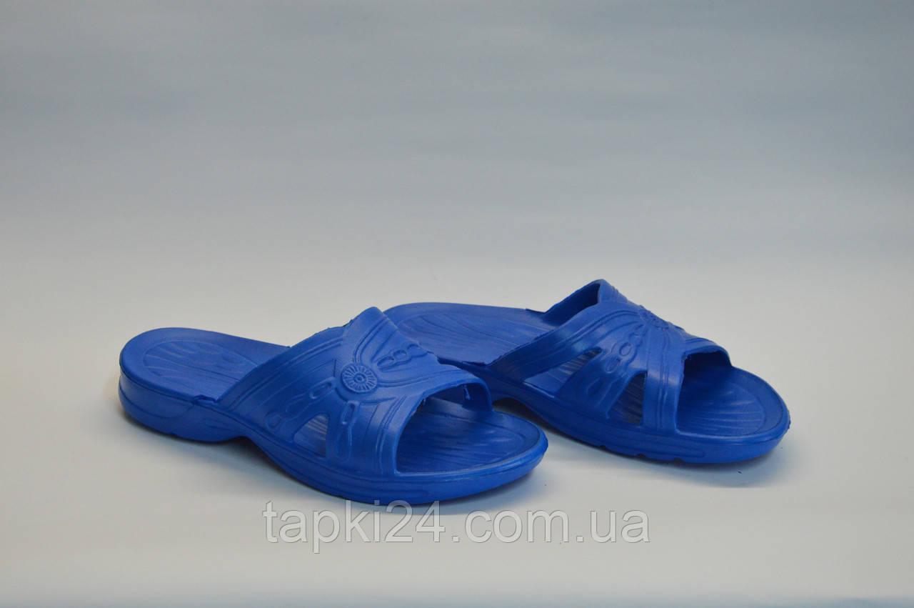 Шлепанцы женские Украина оптом синие летние ПЖ - 03, фото 1
