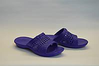 Женские шлепанцы оптом пляжные фиолетовые ПЖ - 04, фото 1