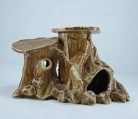 Керамика для аквариума Пень двойной, 12 см., фото 1