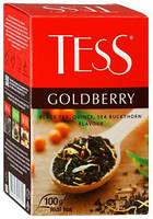 Чай Tess Goldberry (черный с облепихой) 90 г.