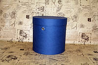 Синяя шляпная коробка D20 * H20